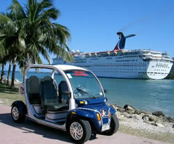sight seeing tour by electric car miami beach port of miami